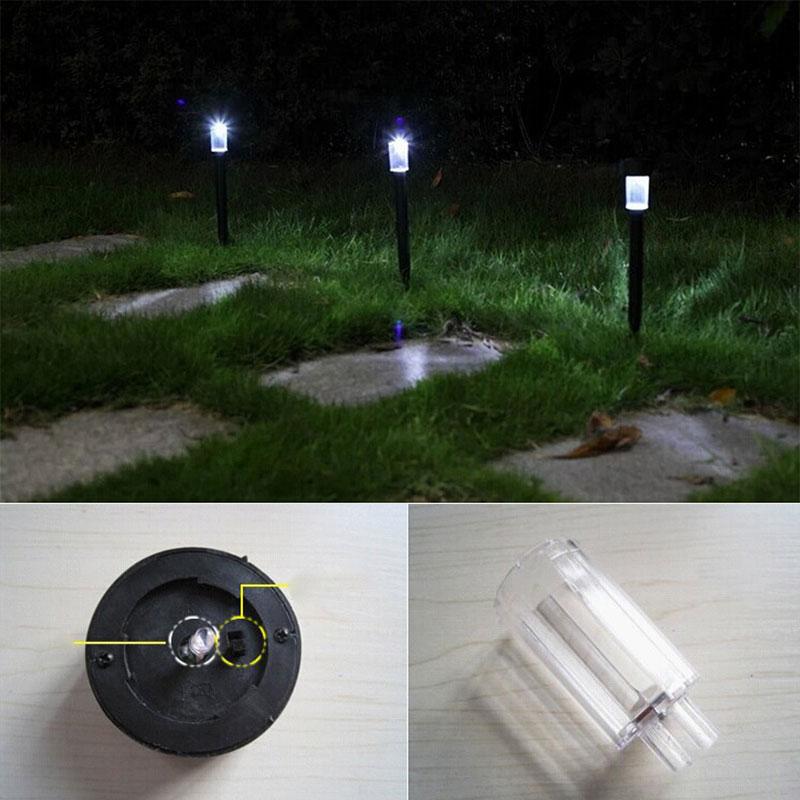 Pure White LED LED Light Lamp Landscape Lamp Solar Lawn Path Power 10pcs 1.2V/600mAh Garden Spot Auto Outdoor Lighting Yard