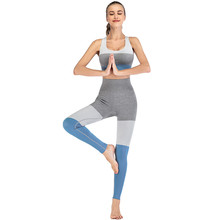 Women Stretch Pantalon Femme Elastic Splice High Waist Leggings Tight High Stretch Sports Casual Pants seamless leggings cheap CN(Origin) Booty Lifting Spandex(10 -20 ) Ankle-Length STANDARD Broadcloth Polyester striped Ages 18-35 Years Old Leggings sport women fitness