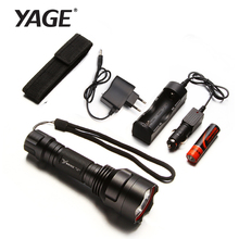 YAGE 311C CREE Led Flashlight Waterproof Tactical Self Defense Lanterna Led Rechargable Torch with1*18650 Battery +car charger