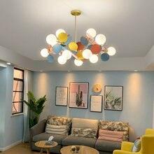 Современные светодиодные люстры красочный мультфильм Потолочная