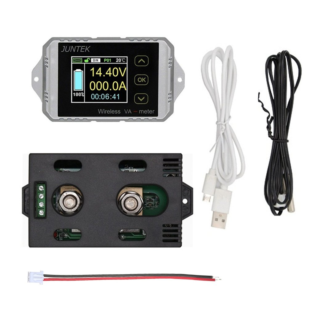 VAT1100 100V 100A LCD Digital Wireless DC <font><b>Voltage</b></font> Current VA Meter Car Battery Monitor Coulometer Coulomb Counter Wattmeter image