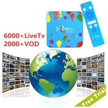 Iptv Espanha anglais 1 an Code H96Mini H6 TvBox Italia grec inde France Portugal chaînes d'abonnement H96 Mini H6(China)