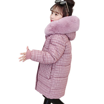 baby boy winter jackets 2018 kids hooded cotton outerwear parka coat clothes for teen boys 5 6 7 8 9 10 11 12 13 14 years old Girls Winter Coat Plaid Parka Kids Long Sleeve Children Cotton-Padded Jacket Thick Warm Clothes For Teen Girls 6 8 10 12 13 Year