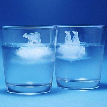 2pc Silicone Ice Cube Mold Penguin Polar Bear Popsicle Molds Silicone Ice Cube Tray Ice Cube Maker Ice Trays Kichen Accessories
