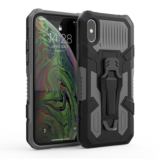 Shockproof Case For Redmi Note 8 7 9 Pro 9S Cases For iPhone 11 Pro Max XR XS X 7 8 6 6S SE 2020 Rugged Hybrid Armor Stand Cover