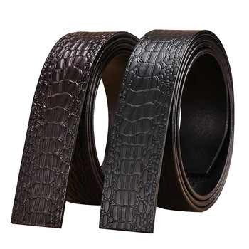 Men's Real Cowhide Automatic Buckle Belt Band No Head Genuine Leather Blets for Men Jewelry First Layer Leather Belt Belt Body fashionable men s head layer cowhide cow split leather waist belt brown