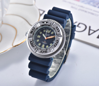 Reloj de pulsera deportivo de cuarzo para Hombre, cronógrafo con correa de silicona azul, marca de lujo a la moda, nuevo