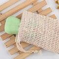 5 шт. натуральная сизаль сумка для мыла отшелушивающее мыло держатель мешочек принадлежности для купания новый хит продаж щетка для тела ск...