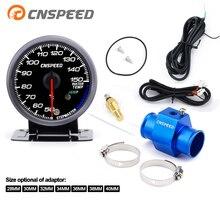 CNSPEED 60 мм Автомобильная температура воды 50-150 градусов Цельсия с датчиком температуры воды 1/8NPT переходная трубка YC101413