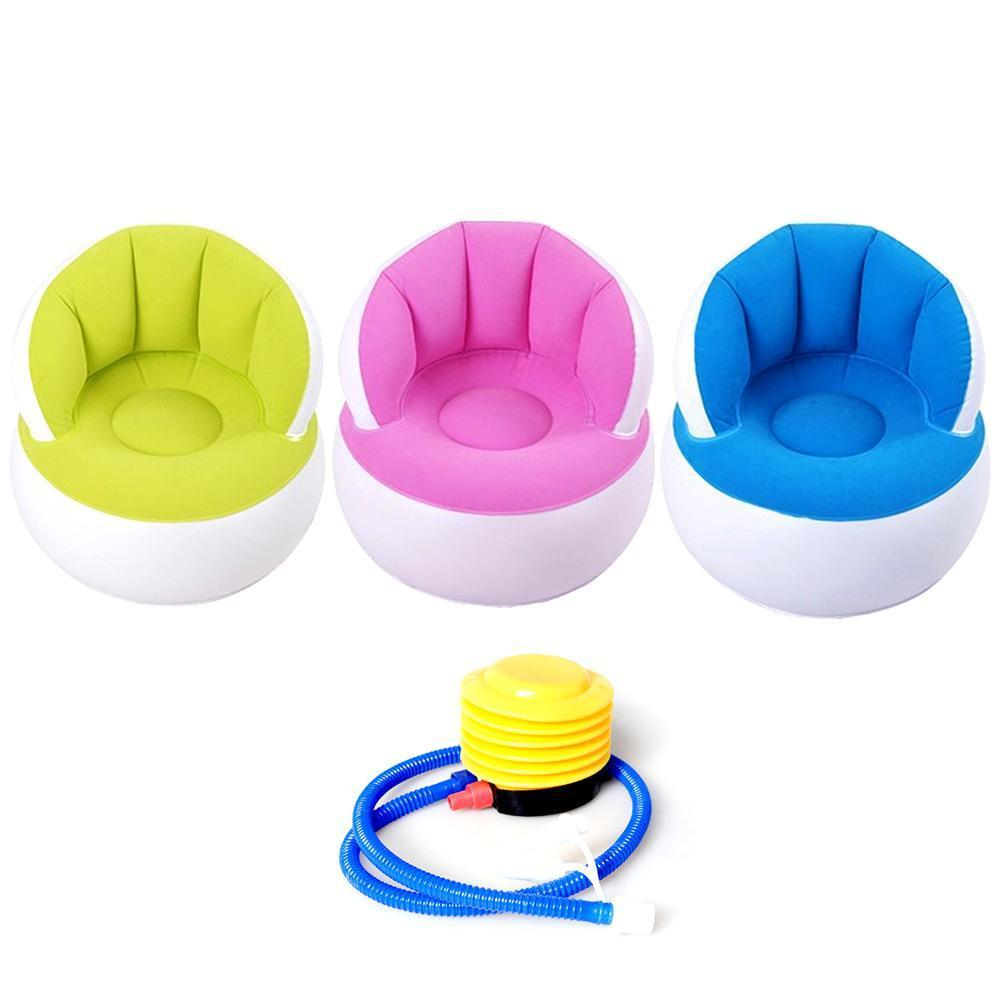 58*53cm Kids Pouf Chair For Sitting Relax Inflatable Comfortable Sofa N8K0