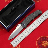 LOVOCOO 484S 1 folding knife M390 blade CF+ steel handle tactical outdoor camping hunting pocket fruit knife survival EDC Tools