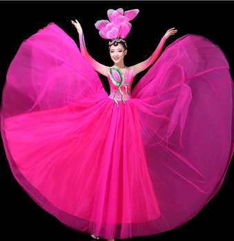 The new opening dance big skirt dress costumes Square Dance Modern dance clothing female dress atmosphere