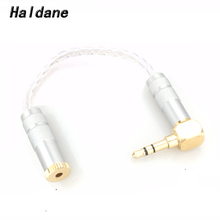 Haldane 3.5mm Stereo Male to 2.5mm TRRS Balanced Female Hi-End Audio Adapter 8 Cores 7N OCC Silver Plated Cable