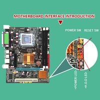 capacitor computer motherboard Desktop Computer Motherboard With All Solid Capacitor SATA2.0 RJ45 LPT VGA Audio 771 775 CPU Dual DDR3 1066/1333MHz Motherboard (4)