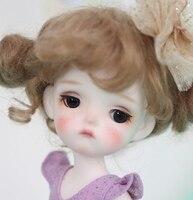 Full Set top quality bjd 1/8 baby doll mini Meng girl cute cool rare hobbie toy gift model recast resin high art cute