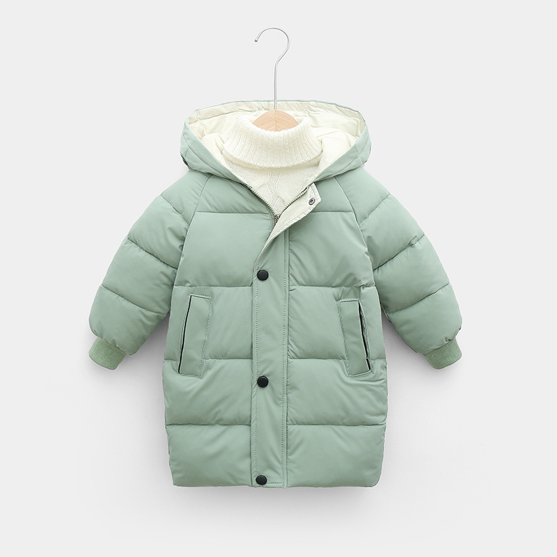 Sundae Angel Children Coat Winter Girls Down Cotton Padded Kids Hooded Solid Down Jacket For Boy Warm Child Outerwear Clothes 4