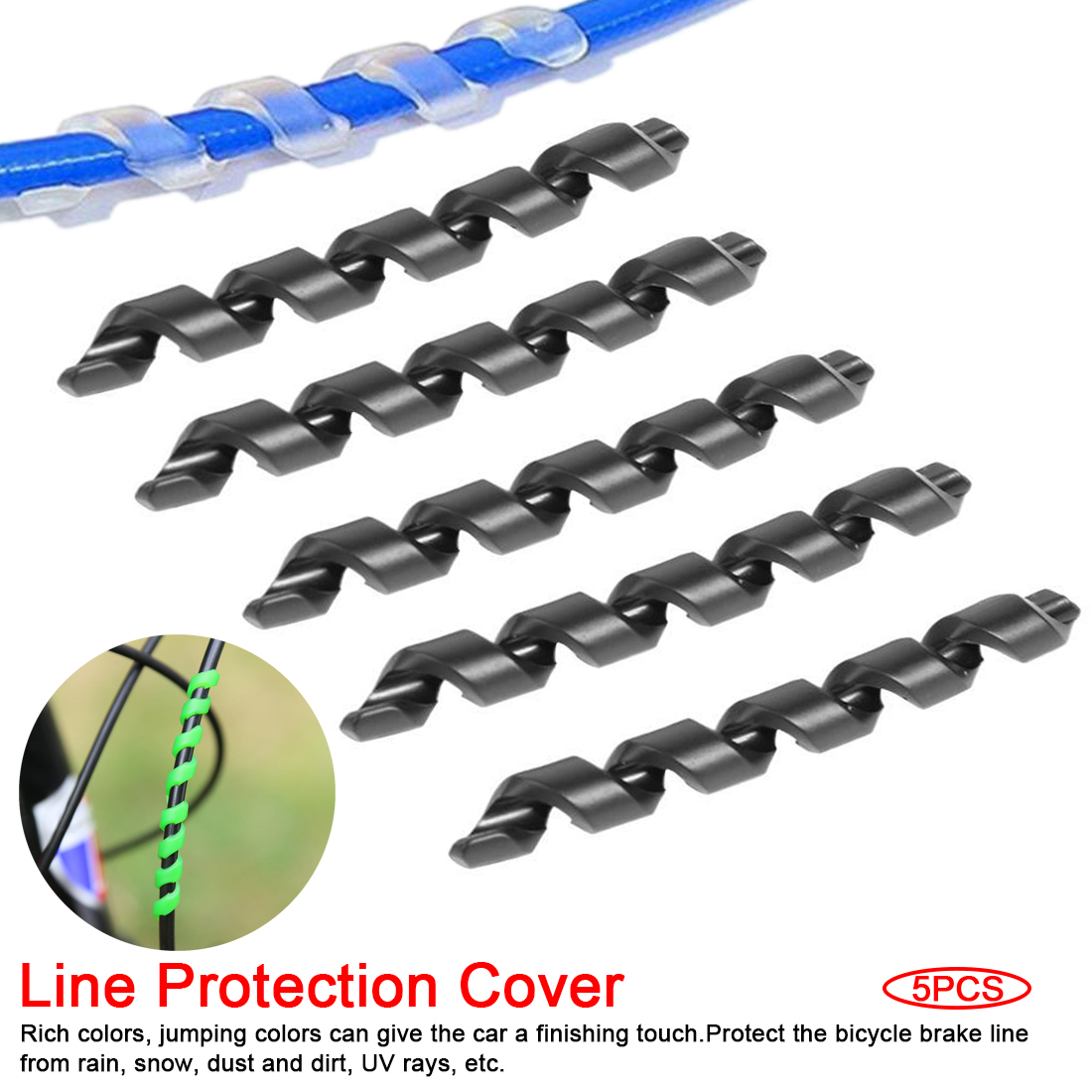 New Bike Cover Protection Guards Brake Line Protector Care Cycling Bicycle Accessories Rubber Sleeve