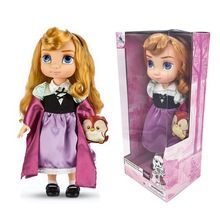 40cm Original Disney Princess Cinderella Rapunzel Snow White Girl Angels Original Doll for Children Gift Action Figure Model