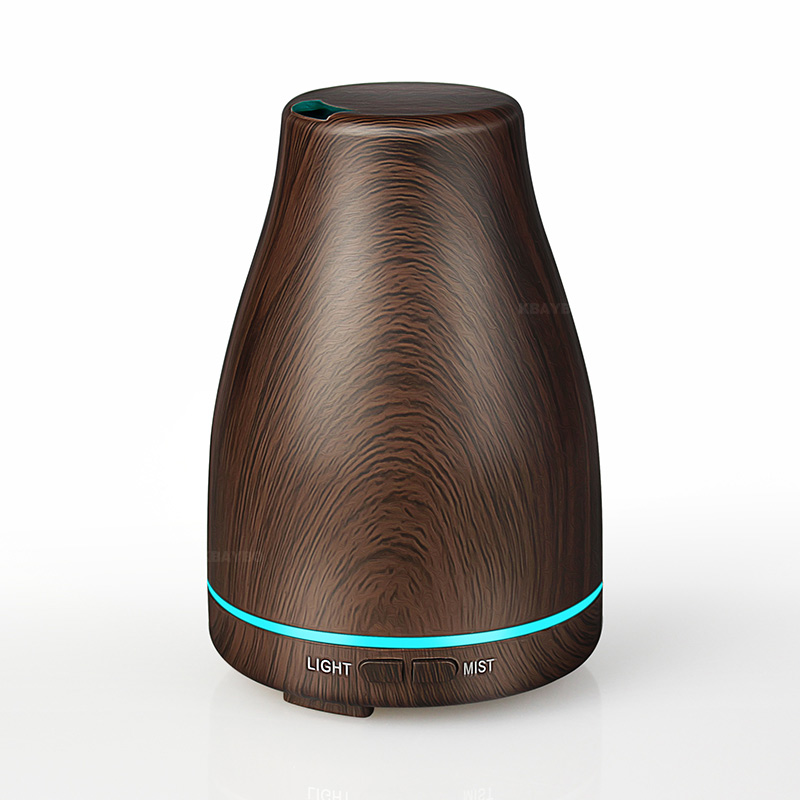 Ultrasonic Air Humidifier Essential Oil Diffuser Aroma Lamp Aromatherapy Electric Aroma Diffuser Mist Maker For Home-Wood