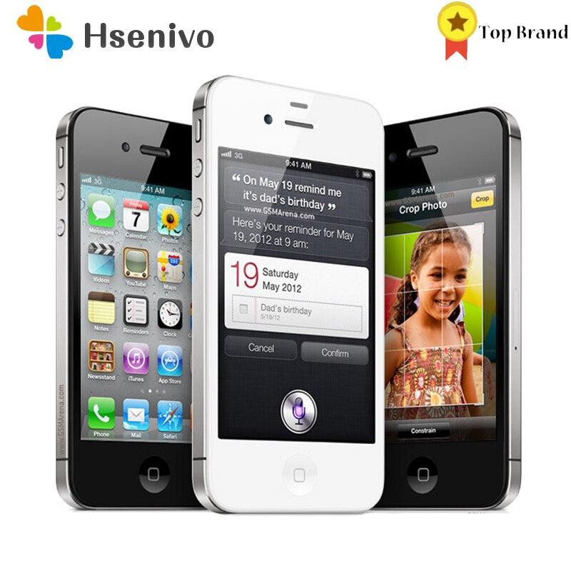 Original iPhone 4S Unlocked Mobile Phone Dual core WCDMA 3G WIFI GPS 8MP Camera apple Cell phone refurbished|cell phones|mobile phoneunlocked mobile phone - AliExpress