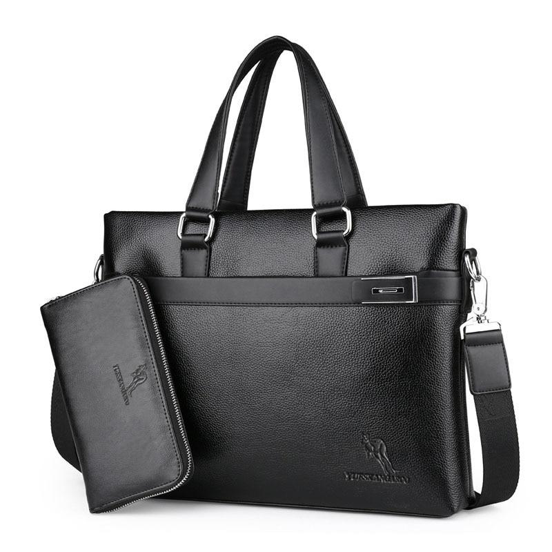 YICIYA  New Brand Leather Man Business Briefcase Handbag Casual Crossbody Shoulder Bag Laptop Travel Messenger Bag