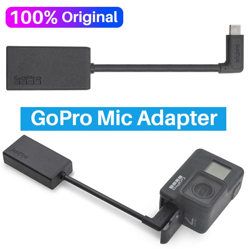 Original 3.5MM GoPro Mic Adapter for GoPro HERO 9 HERO 8 HERO 7 HERO 6 Hero 5 Black AAMIC-001 Microphone Cable Accessories