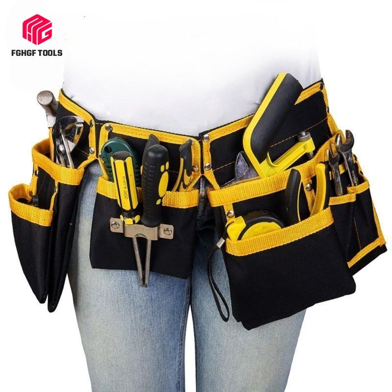 FGHGF Multi-functional Oxford Cloth Electrician Tools Bag Waist Pouch Belt Storage Holder Organizer