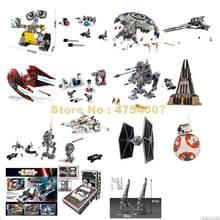 Espaço império greve droid gunship interceptor lutador at-ap castelo walker snowspeeder bb-8 robô brinquedo