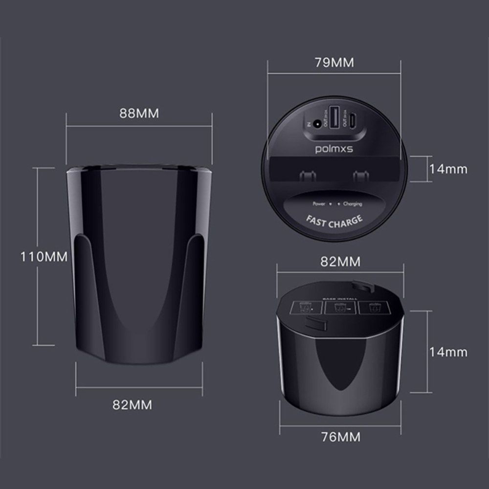 Купить с кэшбэком Car Cup Charger USB Fast QI Wireless Charging Holder For Samsung S8 S7 S6 edge X 8 10 Nexus 5V 2.4A wireless Charging Holder