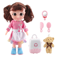 Kids Kitchen Toys Electric Doll Play House Kitchen Toy And Electronic-speaking Doll Pretend to Play Role-playing Toy Girl Gift doll accessories play house toys toy bottle upside down and become less milk bottle magic