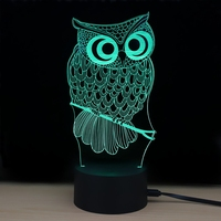 3D LED Nacht Licht Eule mit 7 Farben Licht für Home Dekoration Lampe Erstaunliche Visualisierung Illusion Nacht Licht Geschenk|LED-Nachtlichter|Licht & Beleuchtung -