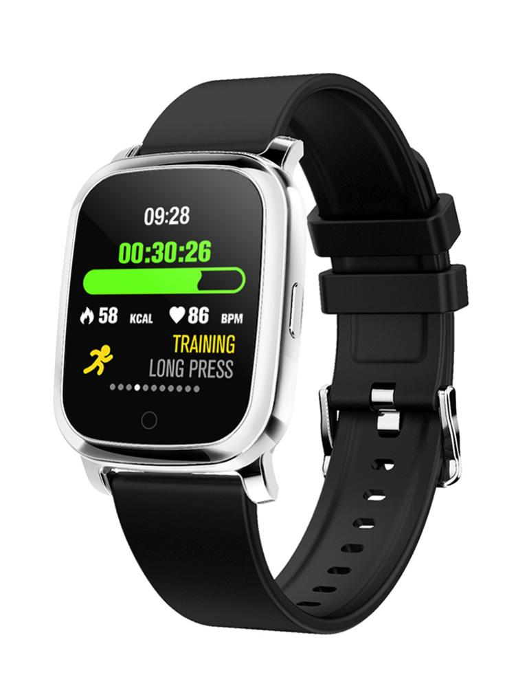 Smartver com Bracelete Medição de Temperatura Cardíaco para Esportes Monitoramento de Atividades Relógio Inteligente Tela Touch Corporal Monitor Esportivas 2020