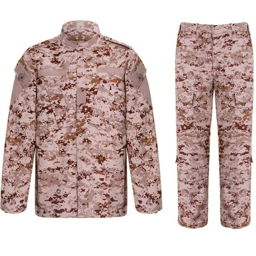 US Army Camouflage Men Suit Plus Tactical Clothing Military Soldier Desert Scouting Costumes for Male Equipment Clothes Unisex