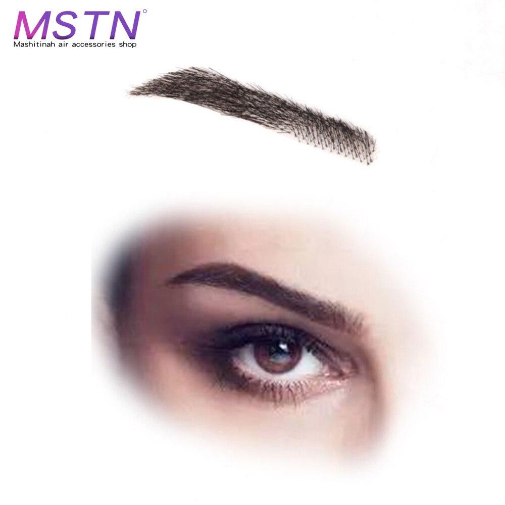 MSTN For Women/Man SalonChat  100% Human Hair Brazilian Remy Hair Invisible Handmade Fake Eyebrows Hand Tied False Eyebrows
