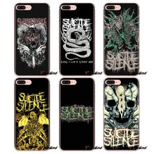 For Samsung Galaxy S3 S4 S5 Mini S6 S7 Edge S8 S9 S10 Plus Note 3 4 5 8 9 cool Suicide Silence Transparent Soft Cases Covers(China)