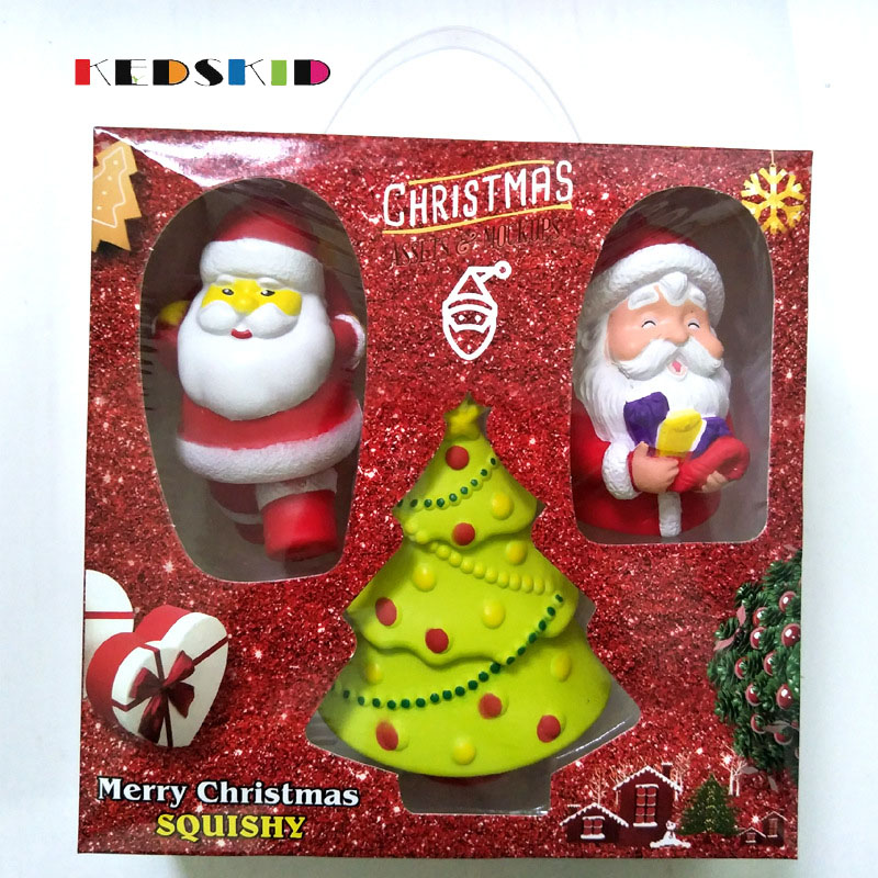 PU Slow Rebound Christmas Santa Claus/Snowman Dolls Standing Christmas Tree Ornaments Kids Christmas Gifts Toy