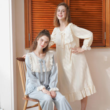 Long-Sleeved Pajamas Women's Spring And Autumn Pure Cotton Retro Palace Style Lively And Sweet Princess Home Service Suit