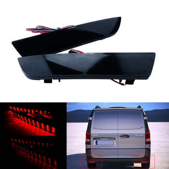 ANGRONG Black Lens LED Rear Bumper Reflector Light For Mercedes Benz W447 Vito V-Class 14-19 w447 vito diamonds style front grille grill fit for mercedesmb v class abs black sport without sign v260 v250 look grills 16 19