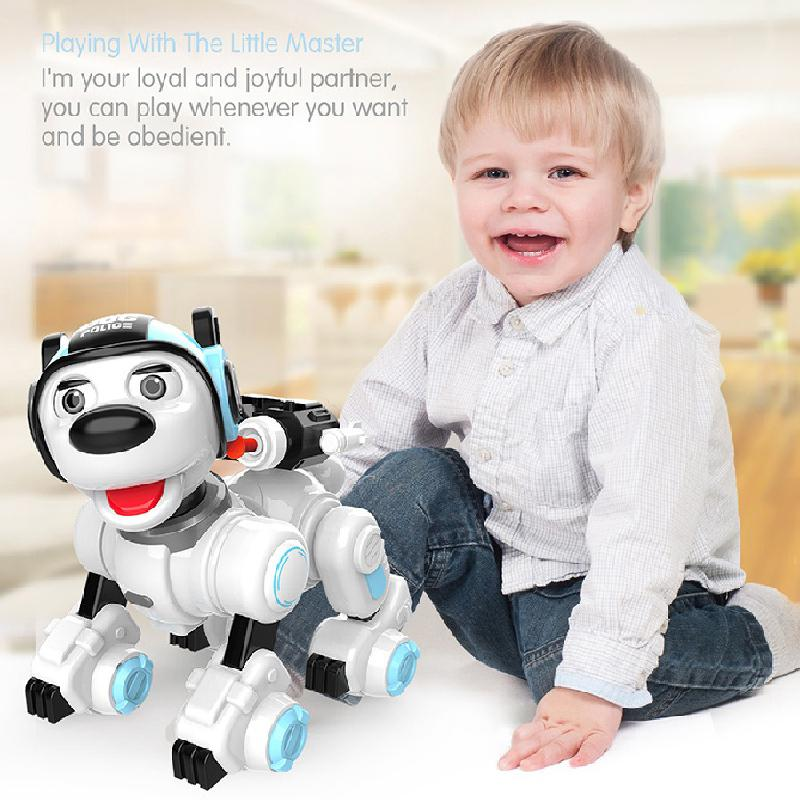 Intelligent Programming Remote Control Dog Touch-sensitive Singing Can Launch Soft Bullet Educational Remote Control Toy