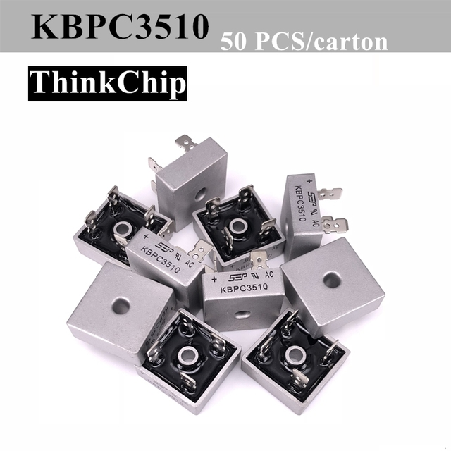 50 PCS / lot KBPC3510 35A 1000V Diode Bridge Rectifier