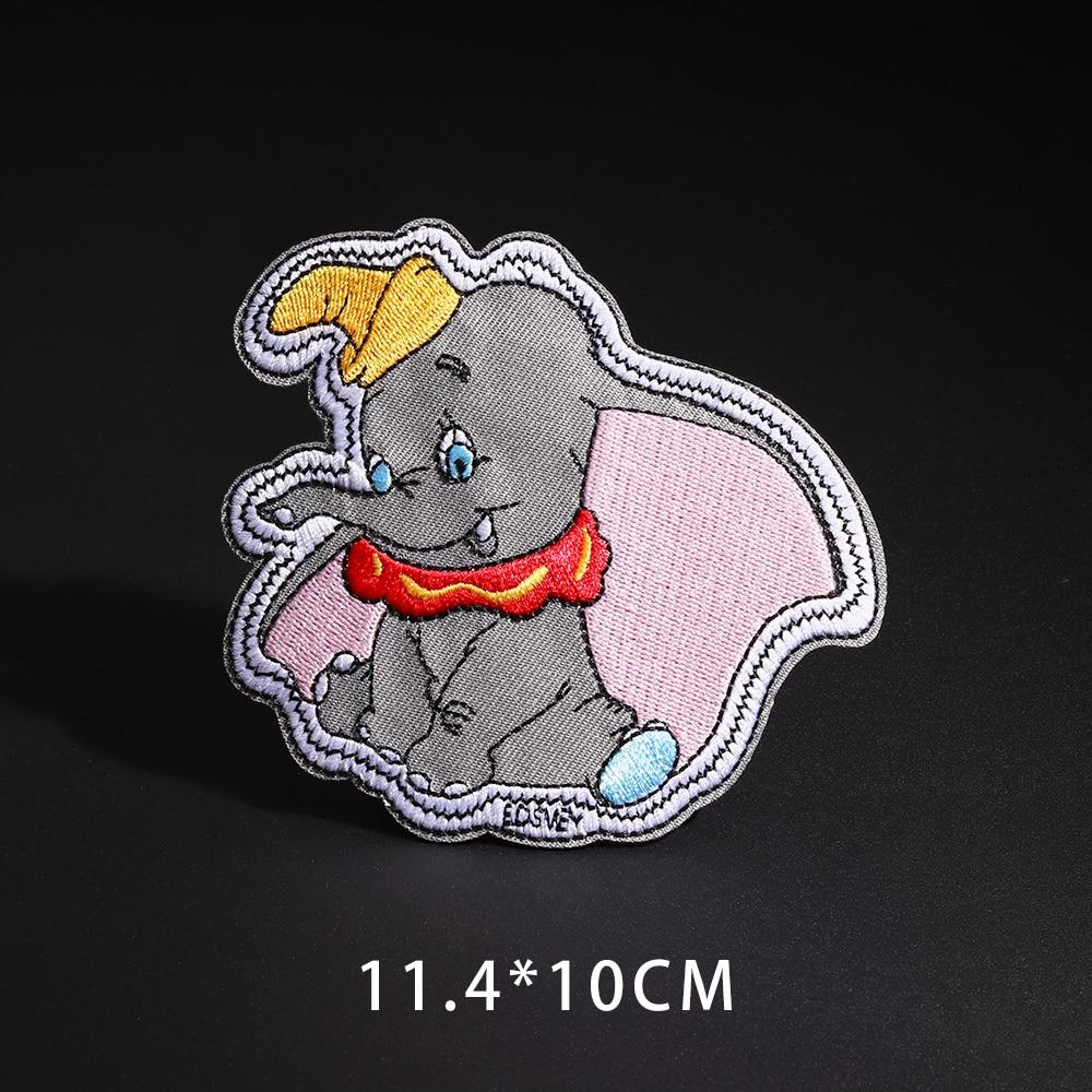 Мультфильм Dumbo нашивки со слонами клеящиеся утюгом украшения Мой сосед Тоторо ткань аппликации 3D Diy милое крыло свободы не лицо значки - Цвет: N3-BT4301