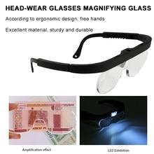 Loupes à lunettes 11537A, loupe à 3 lentilles portables 1.5X 2.5X 3.5X