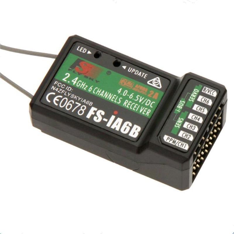 Novo 100% original flysky ia6b ia6 receptor FS-IA6/FS-IA6B/6ch 2.4g antena dupla receptor rc para flysky FS-I6 fsi6 FS-i4 FS-i6