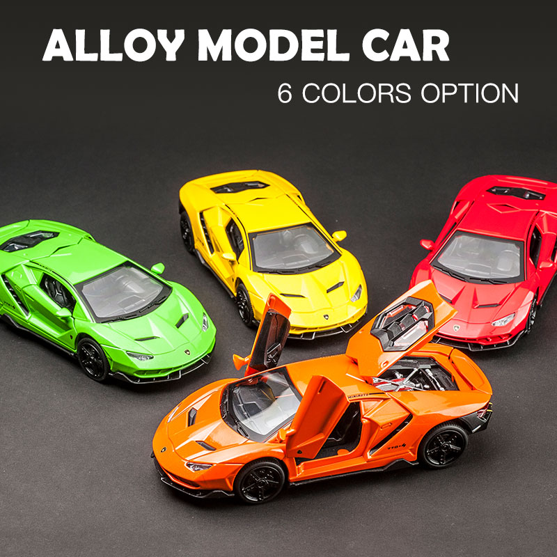 1:32 Sport Diecasts Metal Vehicle Car Toy Car Model Pull Back Toy For Children Pull Back Models Sound Light Boy Gifts For LP770