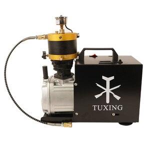 Image 2 - Compressore elettrico di arresto automatico regolabile del compressore ad alta pressione PCP di TUXING 4500Psi per il serbatoio pneumatico del fucile