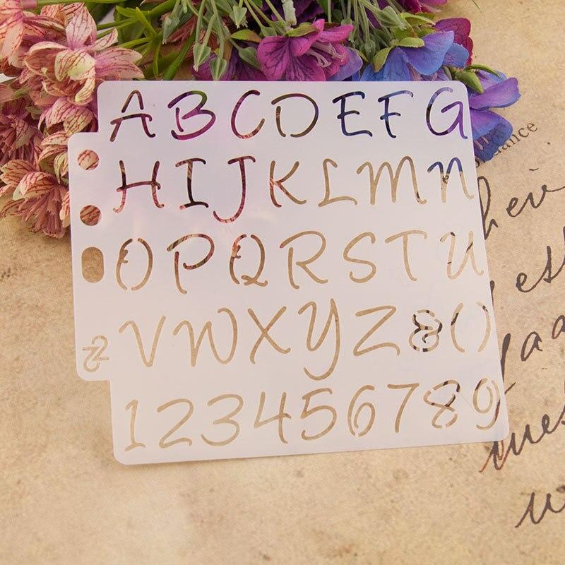 13cm Alphabet Letters S65 DIY Layering Stencils Painting Scrapbook Coloring Embossing Album Decorative Paper Card Template