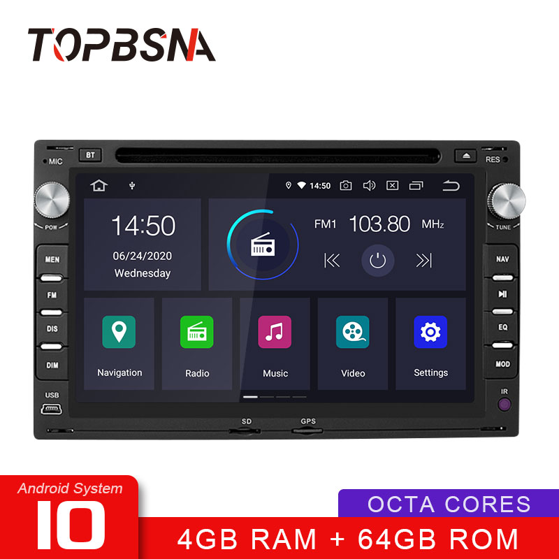 TOPBSNA Android 10 Car DVD Player For Volkswage Passat B5 Bora Polo <font><b>GOLF</b></font> MK3 <font><b>Mk4</b></font> TRANSPORTER T5 T4 Auto 2 din GPS Navi WIFI Auto image