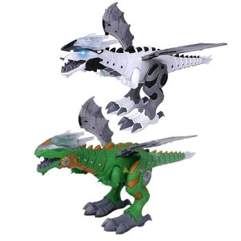 Kids Large Dinosaur Toys Walking Spray Electric Dinosaur With Voice  Animal Model Electronic IntelligentToys Gift For Children mighty electric walking with sound dinosaur toys animals model toys for kids