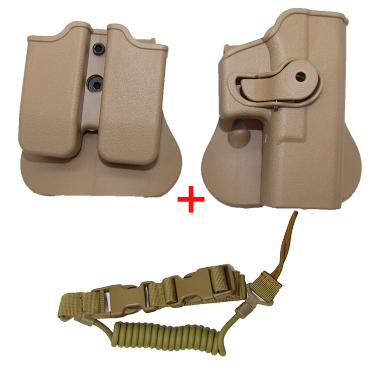 Tactical IMI Handgun Holster For Glock 17 19 23 Right Hand Airsoft Paintball Belt Paddle Pistol Gun Holsters Hunting Accessories
