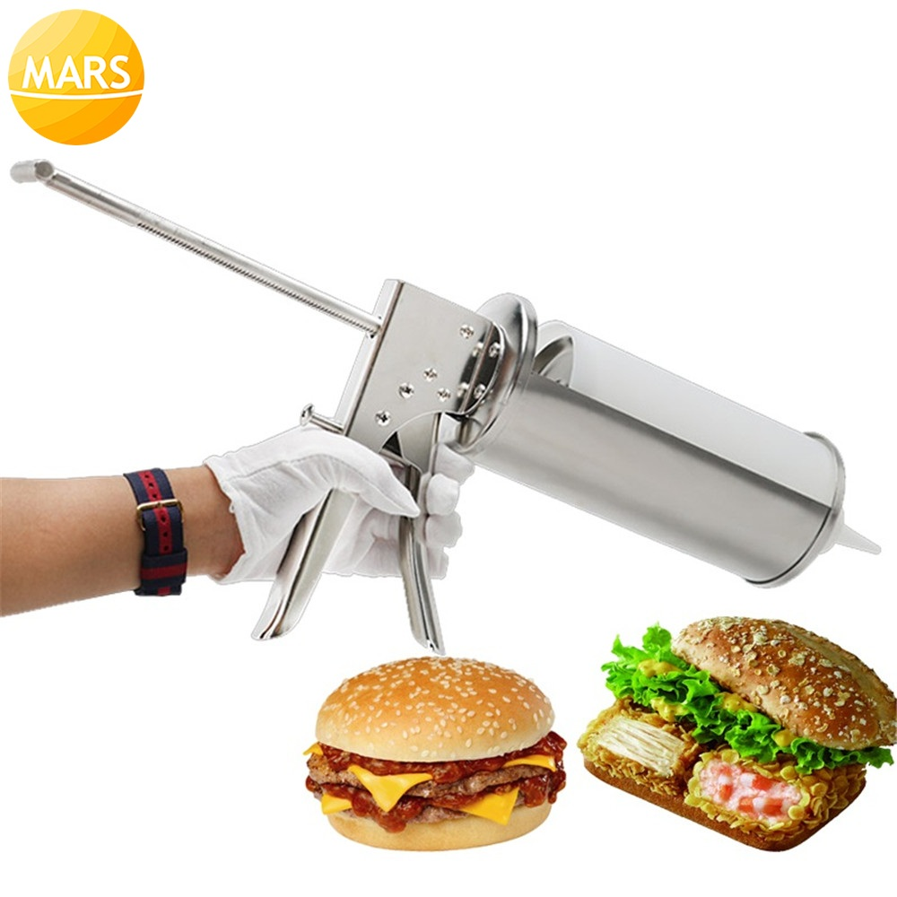 Manual Churros Filling Machine With One Bottle Cream Sauce Jam Churro Filler Snack Burger Gun Hamburger Dispenser